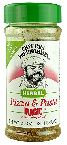 Chef Paul Prudhomme's Herbal Pizza and Pasta Magic Seasoning Blend 3.0 OZ. (Pack of 2) by Chef Paul Prudhomme's Magic Seasoning Blends (Image #1)