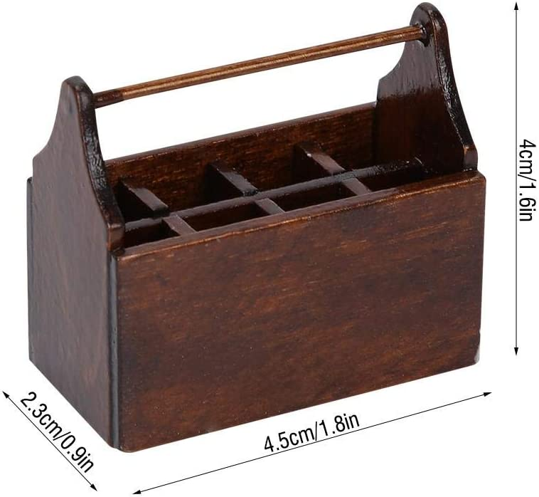 FOSA Doll House Toolbox with Tools,Miniature Tool Box Wooden Toolbox Model for 1//12 Scale Dollhouse Accessories Doll Kids Girls Pretend Play Toy