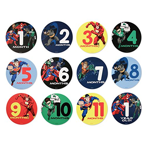 DC Comics Baby Boys Justice League Belly Stickers Gift Set, Multi, No No Size
