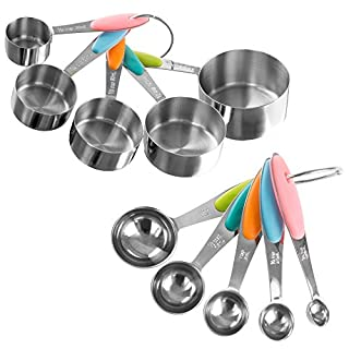 Classic Cuisine Measuring Cups & Spoons Set, Normal, Stainless Steel