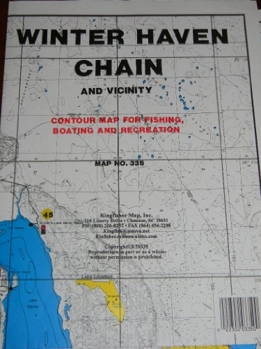 Winter Haven Chain And Vicinity Contour Waterproof Map For Fishing, Boating and Recreation Map No. 335
