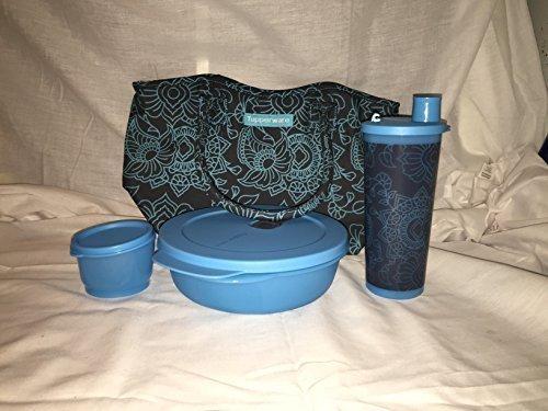 Tupperware Caspian Flora Lunch Set w/ Reusable Bag