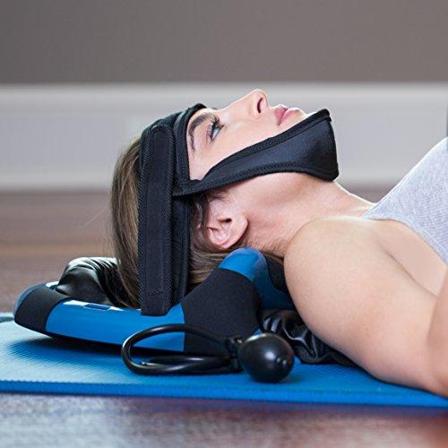 Cervical Traction Device, Neck Exerciser - Posture Neck Exercising Cervical Spine Hydrator Pump | Neck Traction Device |Relief for Stiffness, Relieves Neck Pain, Neck Curve Restorer| Posture Corrector