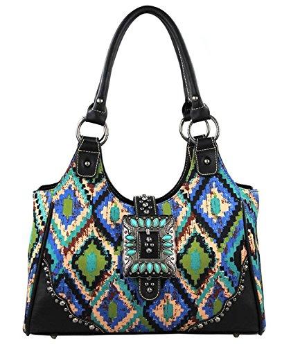 Montana West Concealed Handgun Purse Handbag, Handbag Gift, Purse Gift (Turquoise)