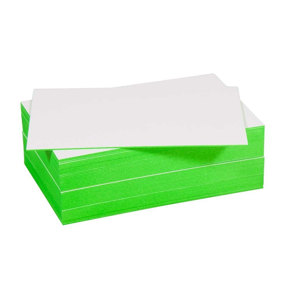 Blanko Visitenkarte Mit Farbschnitt Grün Amazon De