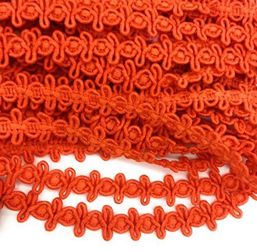 Autumn Orange Braid,5/8'' -14mm Cross Loop Trimmings 5 Yards