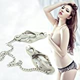 Pevor Nipple Clamps With Chain Clip Butterfly Style Fashion SM Sex Toy Adult Healthy Tools For Couples Nipple Breast Stimulation Stimulate Blood Circulation Expand the Sensory Experience Couples Game Larger Image
