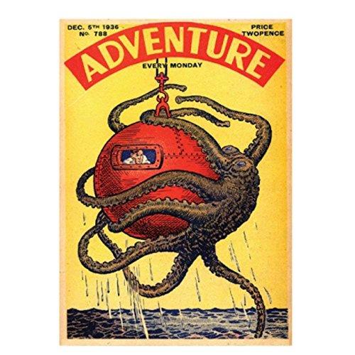 Classic Comics Adventure Octopus Refrigerator Magnet