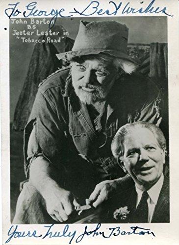 ACTOR John Barton autograph, signed vintage photo