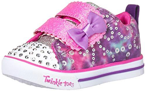Skechers Kids Girls' Sparkle LITE-Rainbow Cuties Sneaker, Purple/Multi, 11 Medium US Little Kid ()