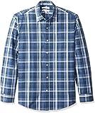 Amazon Essentials Men's Regular-Fit Long-Sleeve Casual Poplin Shirt, Navy Medium, X-Large