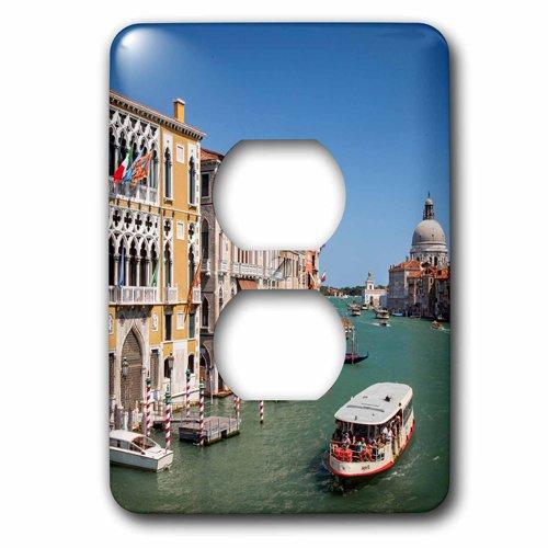 3dRose Lsp_206570_6 Vaporetto Taxi Agua A lo largo del Gran Canal, Venecia, Italia. - 2 enchufes cubierta de salida