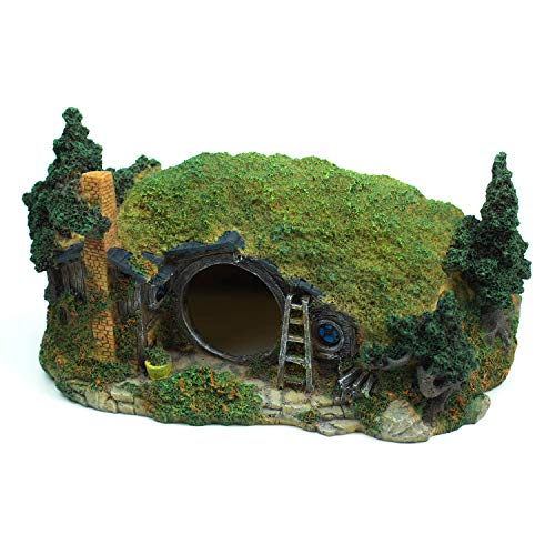 YSLDSNX Aquarium Ornaments Fish Tank Supplies Decorations Landscape Scenery Bookcase Accessories Resin Decor Hobbit…