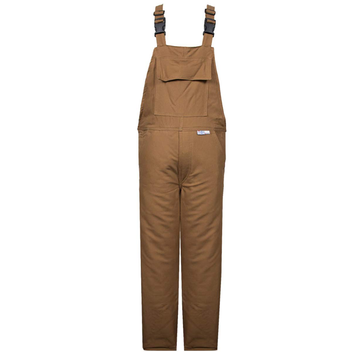 National Safety Apparel Medium Brown UltraSoft Duck 60 cal/cm Flame Resistant Bib Overall 3M Thinsulate Lining With Zipper Closure