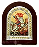 Saint George Christian Icon Sterling Silver Handmade Jerusalem Holy Land