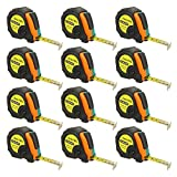 10ft Power Tape Measure Auto Lock (10-Foot12-Pack)