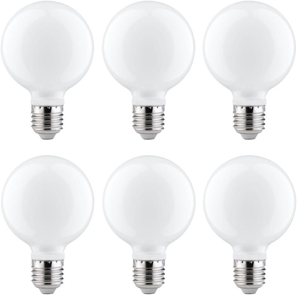 6 X Paulmann Led Globe Light Bulb G80 40 W Watt E27 Opal Warm White 2700 K 360 Beleuchtung