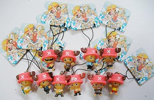 10 Pc Anime One Piece Tony Chopper Cell Phone Charm Strap Set
