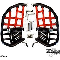 TRX 400EX SPORTRAX Honda Compatible (1999-2014) Propeg Nerf Bars Black Bars w/Red Net