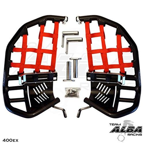 Side Right Guard Heel (Honda TRX 400EX SPORTRAX (1999-2014) Propeg Nerf Bars Black Bars w/Red Net)