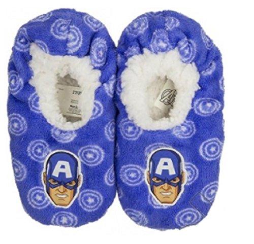 Koo-T Zapatillas de estar Por casa de Poliéster Para Niño Capt. America Light Blue