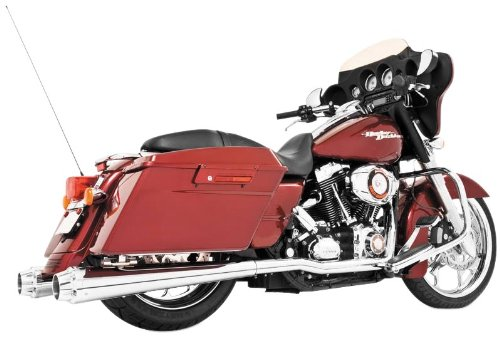 """Freedom HD00260 Exhaust (American Outlaw Slip-On Chrome With Chrome Tip 4.5""""),1 Pack"""