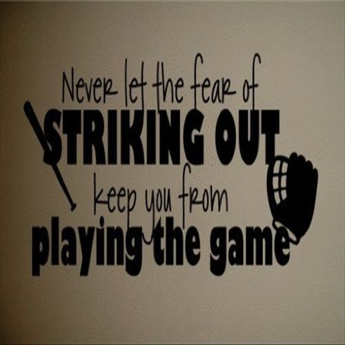 Dailinming PVC Wall Stickers Wall Sticker Decal Quote Vinyl Baseball Softball  Wall Quote Kids Art Decal Strike Out 25X58CM - - Amazon.com