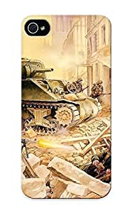 Tony Diy case cover Protector Series For Iphone 5/5s Painting Art Soldiers Ruins Military case cover 8UjrcVbSbHr For Lovers