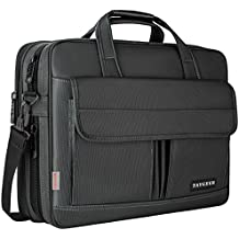 Laptop Bag 15.6 Inch,Water Resistant Briefcase, 15inch Expandable Messenger Shoulder Bag with Strap, Taygeer Carry On Handle Case for Computer/Notebook/MacBook for Business Men/Women, Black