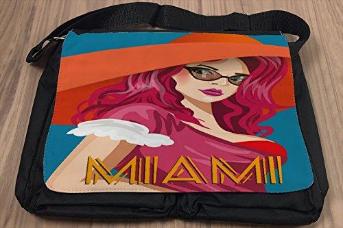 Borsa Tracolla Vacanza Agenzia Di Viaggi Miami Stampato