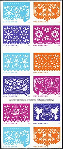 Colorful Celebration USPS Forever Postage Stamps Booklet of 20 Self-Adhesive 1 Booklet of 20 Stamps (Postal United Stamps)