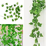 2.8m Artificial Grape Leaf Plant Green Garland Home Garden Holiday Decoration