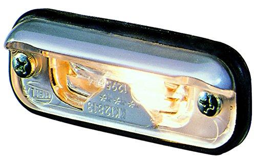 HELLA 001378041 1378 Series Silver License Plate Lamp 1378 Series