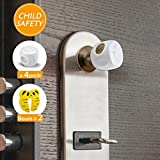 WeGuard Upgrade Version Child Proof Door Knob Cover With Locked Cover Baby Proof Door Knob Cover For Kids - With Free Door Stoppers