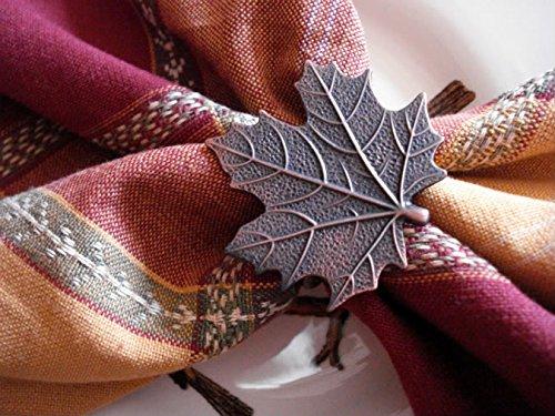 Better Homes Leaf Napkin Rings 2 Pack(antique Gold Finish)