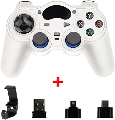 KBWL Gamepad 2.4 G Controller Gamepad Android Joystick inalámbrico Joypad con convertidor OTG para PS3 / teléfono inteligente para Tablet PC Smart TV Box: Amazon.es: Videojuegos