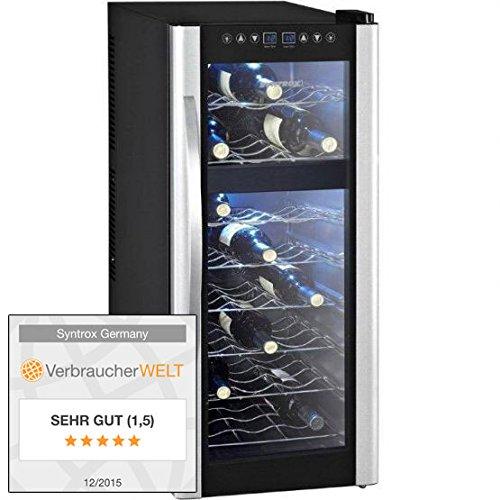 Syntrox Germany 21 Flaschen 2 Zonen Digitaler Getränkekühlschrank Weinkühlschrank