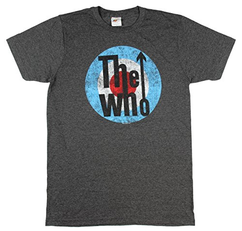 The Who Distressed Classic Logo Licensed Adult Heather T-Shirt