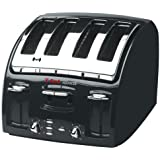 T-fal 533200 Classic Avante 4-Slice Toaster with Bagel Function, Black