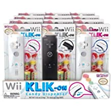 Nintendo Wii Remote Controller Replica Klik-On Candy Dispenser 12 Pack Assortment Case