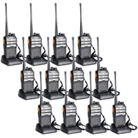 BAOFENG BF-888s Upgraded Two Way Radio BF-230 Pro Handheld Walkie Talkie Transiver 3.7v/1500mAh/400-470MHz US Plug Headphone With Rechargeable Battery(Pack of 12)