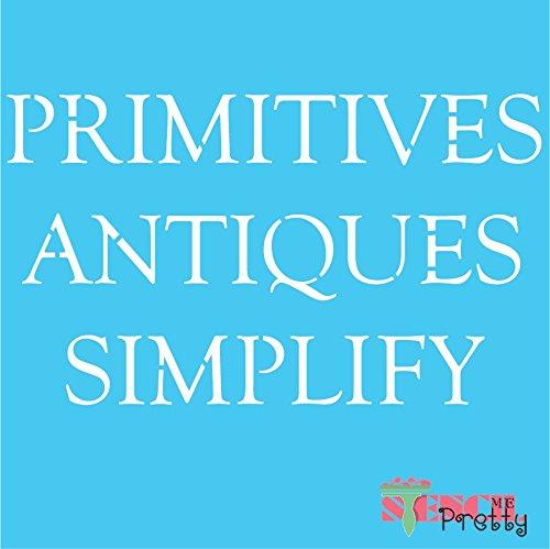 "Stencil - Primitives Antiques Simplify DIY Sign Template - XL (23"" x 13.5"") from Stencil Me Pretty"
