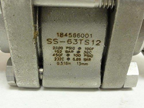 Swagelok SS-63TS12-JLK Inline Ball Valve SS, 3/4'' Tube Fitting