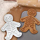 Astra Gourmet Skull Cookies Ever Cutter/Stampers & SWEET SPIRITS Day of the Dead Cookie Cutter & Gingerdead Men Cookie Cutter