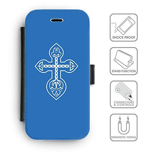 GoGoMobile Coque de Protection TPU Silicone Case pour // Q09210602 Croix chrétienne 31 ambre // Apple iPhone 4 4S 4G