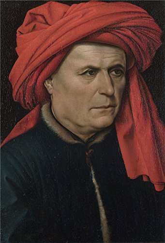 (Oil Painting 'Robert Campin-A Man,about 1435', 12 x 18 inch / 30 x 45 cm , on High Definition HD canvas prints is for Gifts And Foyer, Home Office And Kids Room Decoration, ideas)