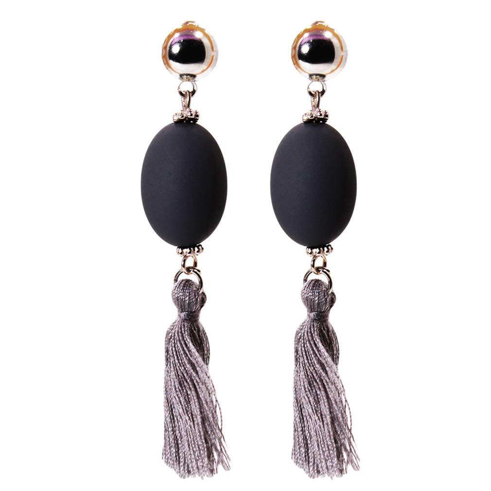 Tassle earrings Black long tassel earrings Graduation earrings Mum earrings Long black earrings Sister gift Boho tassel earrings Tassles