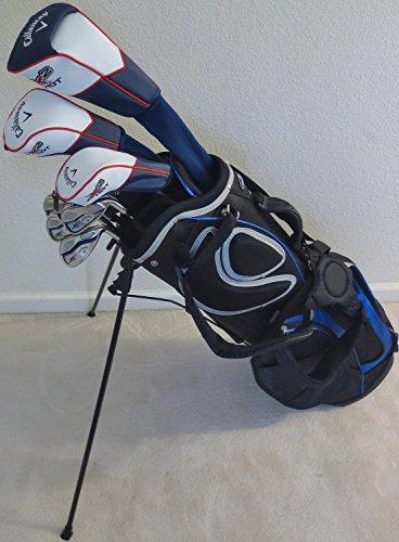 Callaway完了メンズゴルフセットクラブドライバ フェアウェイウッド ハイブリッド アイアン パター バッグStiffフレックスシャフトの商品画像