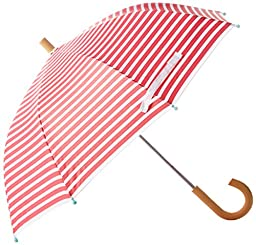 Hatley Little Girls\' Classic Printed Umbrella, Pink Stripe, O/S