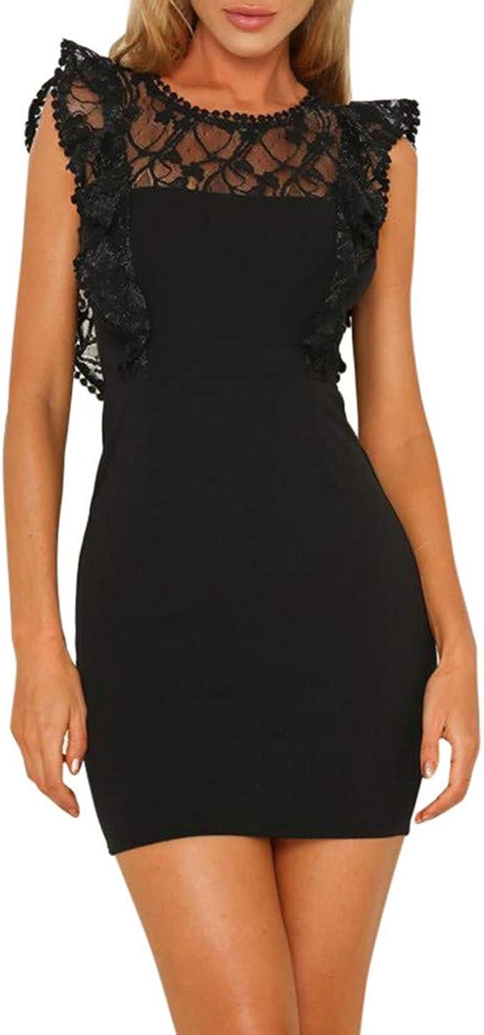 Merical Sommer Kleider Fur Damen Frauen Beilaufige Kalte Schulter Sleeveless Minikleid Abend Partykleid Large Schwarz Amazon De Bekleidung
